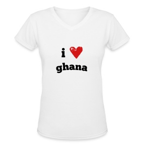 I Love Ghana - Women's V-Neck T-Shirt