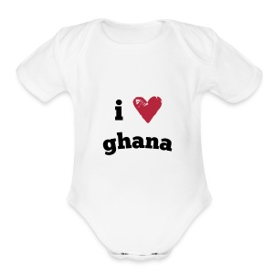 I Love Ghana - Short Sleeve Baby Bodysuit