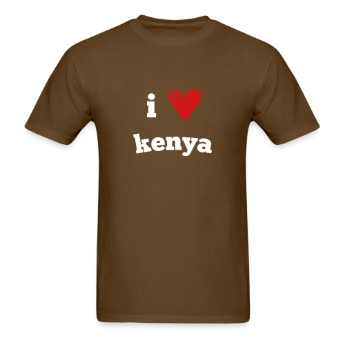 I Love Kenya - Men's T-Shirt