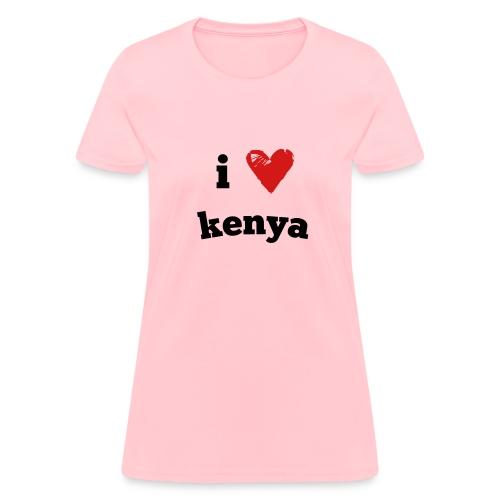 I Love Kenya - Women's T-Shirt