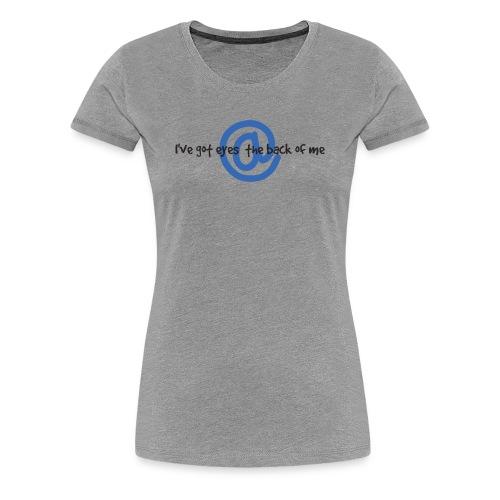 I C U Nerd Girl on Back - Women's Premium T-Shirt