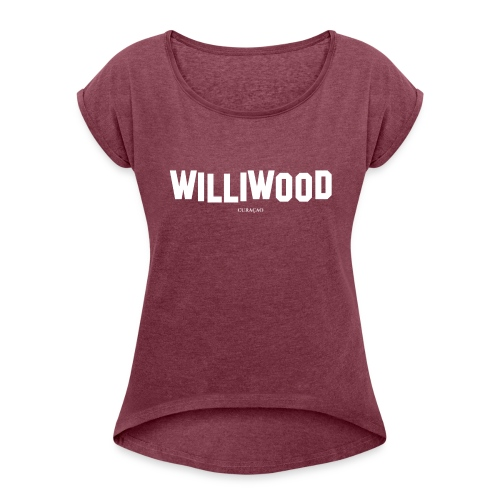 Williwood Design - free color selection - Women's Roll Cuff T-Shirt