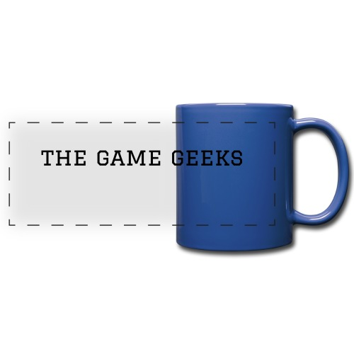 blue game geeks mug - Full Color Panoramic Mug