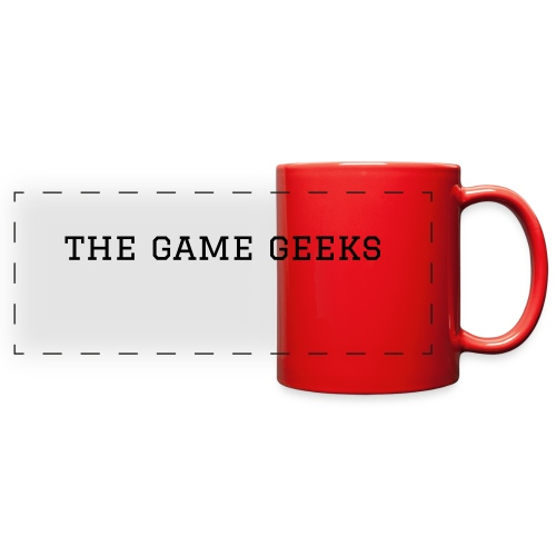 red game geeks mug - Full Color Panoramic Mug