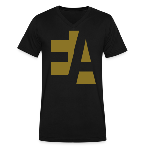 E.A. Men's V-Neck T-Shirt (GOLD) - Men's V-Neck T-Shirt by Canvas