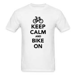 Keep Calm And Bike On - Men's T-Shirt