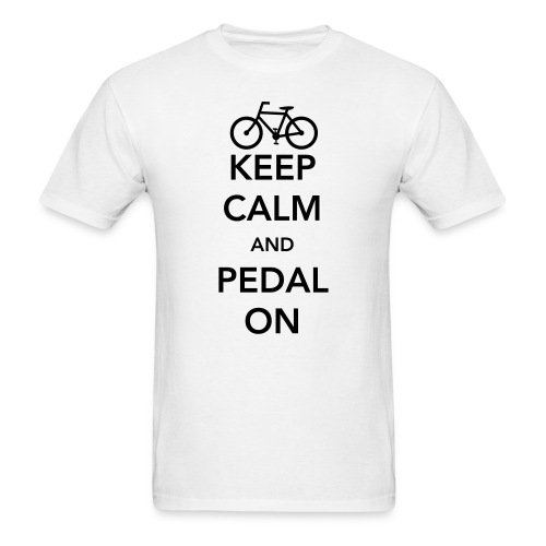 Keep Calm And Pedal On - Men's T-Shirt