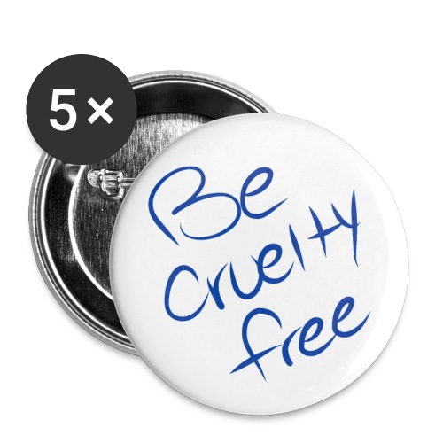 Be Cruelty Free Buttons (5 Pack) - Small Buttons