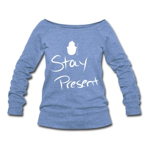 'Stay Calm' Scoop Neck Sweatshirt - Women's - Women's Wideneck Sweatshirt