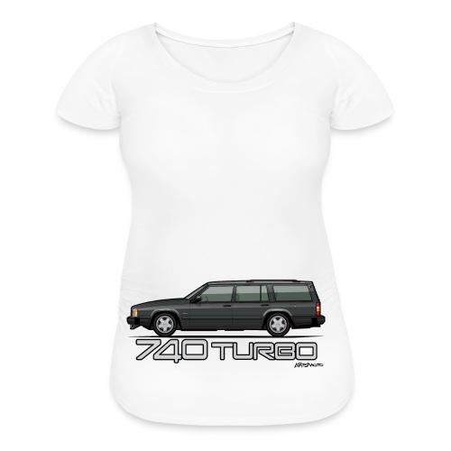 Volvo 740 745 Turbo Wagon Badge Dark Grey Metallic - Women's Maternity T-Shirt