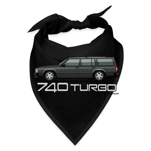 Volvo 740 745 Turbo Wagon Badge Dark Grey Metallic