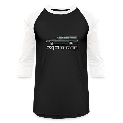 Volvo 740 745 Turbo Wagon Badge Dark Grey Metallic - Baseball T-Shirt