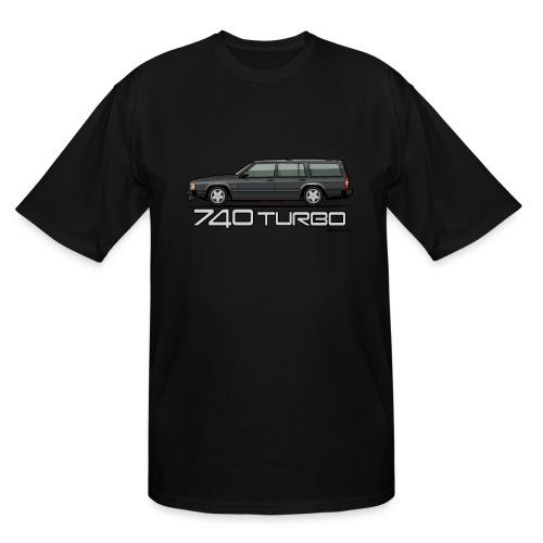 Volvo 740 745 Turbo Wagon Badge Dark Grey Metallic - Men's Tall T-Shirt