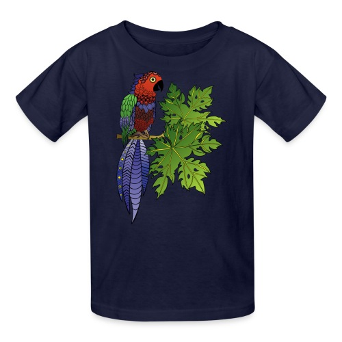 Parrot Kids T Shirt by South Seas Tees - Kids' T-Shirt