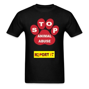 STOP ANIMAL ABUSE - Men's T-Shirt