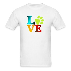 LOVE - PAW - Men's T-Shirt