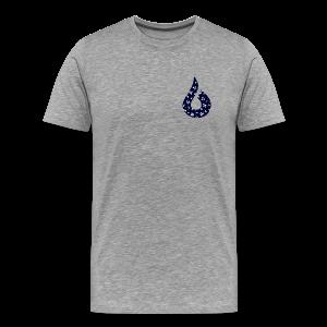 Blue & White Floral Short Sleeve - Men's Premium T-Shirt