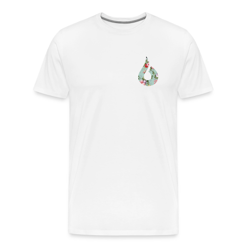 Green & Pink Floral Short Sleeve - Men's Premium T-Shirt