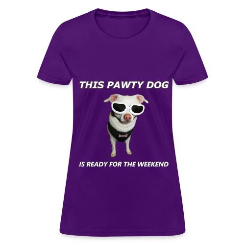 Pawty Dog – Women's T-Shirt - Women's T-Shirt