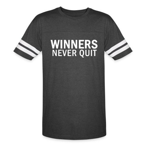 WINNERS NEVER QUIT - Men's Sport T-Shirt - Vintage Sport T-Shirt