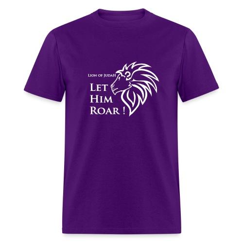 Lion of Judah- Let Him Roar! - Men's T-Shirt