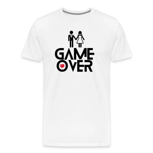Mens Game Over Blk - Men's Premium T-Shirt