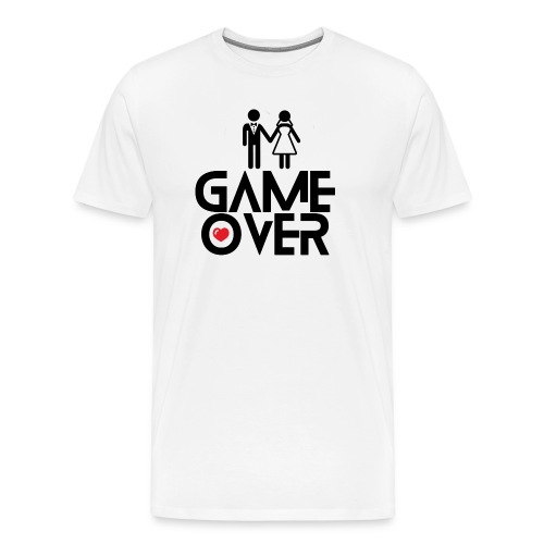 Mens Game Over Blk - Men's Premium T-Shirt