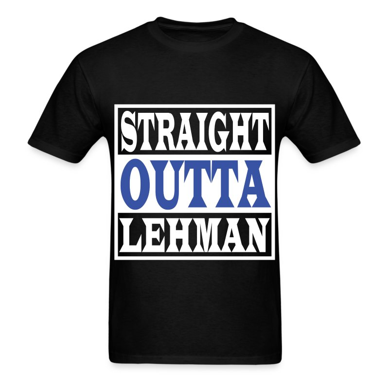 Straight Outta Lehman Blue - Men's T-Shirt