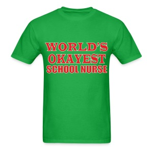Worlds Okayest School Nurse Red - Men's T-Shirt