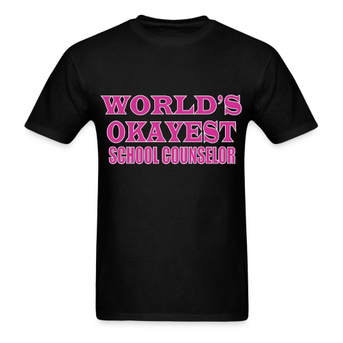 Worlds Okayest School Counselor Pink - Men's T-Shirt