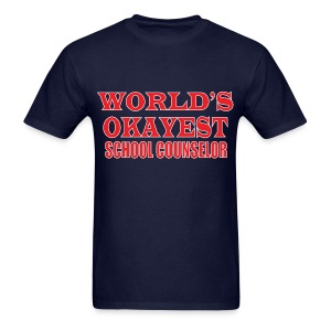 Worlds Okayest School Counselor Red - Men's T-Shirt