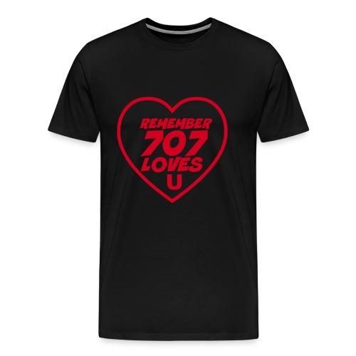 Remember 707 Loves U Men's T-Shirt - Men's Premium T-Shirt