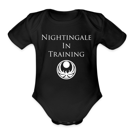 Little Nightingale In Training - Organic Short Sleeve Baby Bodysuit