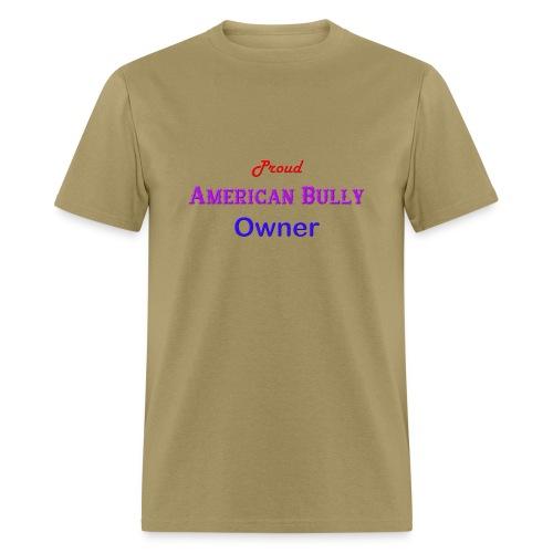 Proud American Bully Owner Men's T-shirt - Men's T-Shirt