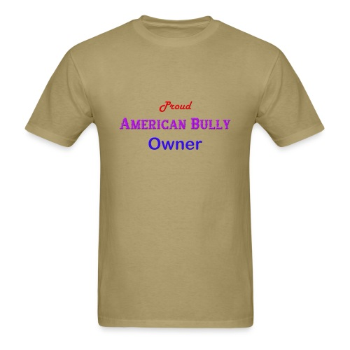 Proud American Bully Owner Men's T-shirt - Men's T-Shirt