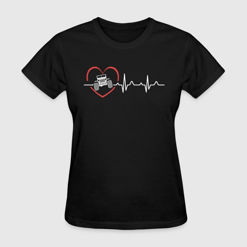 Jeep Heartbeat Shirts - Women's T-Shirt