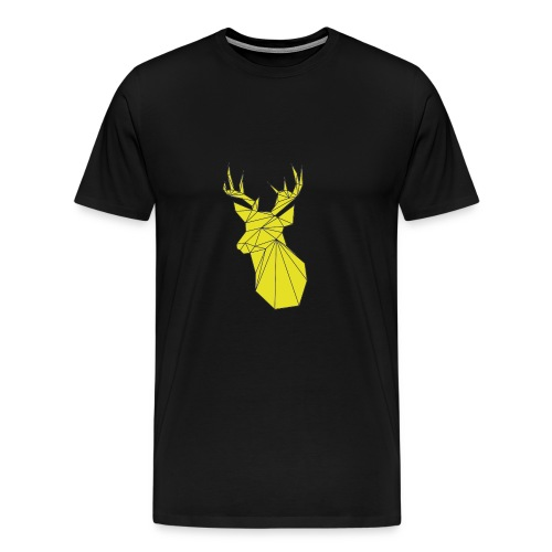 Gold Deer Head  - Men's Premium T-Shirt