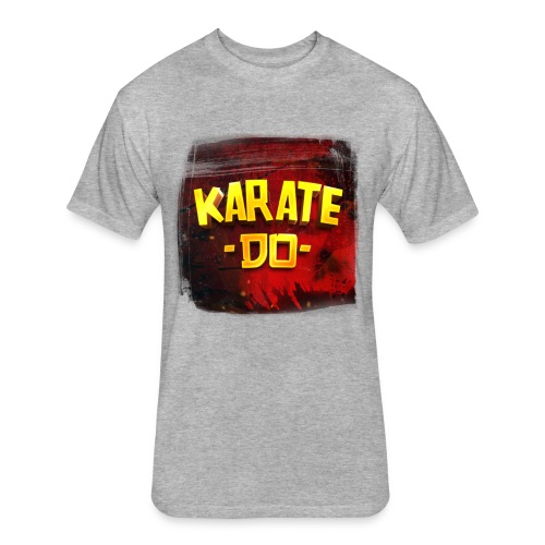 Karate Do Fitted T-shirt (heather gray) - Fitted Cotton/Poly T-Shirt by Next Level