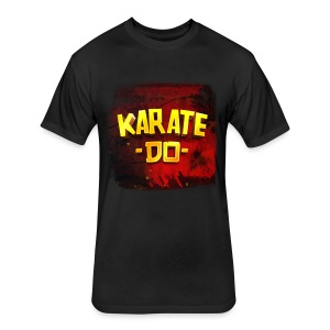 Karate Do Fitted T-shirt (black) - Fitted Cotton/Poly T-Shirt by Next Level