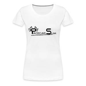 PACECAR SLIM WOMAN'S WHITE - Women's Premium T-Shirt