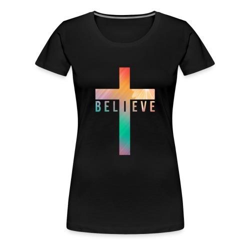 Believe cross t-shirt - Women's Premium T-Shirt