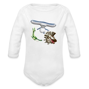 Silly World Series Baby White - Long Sleeve Baby Bodysuit