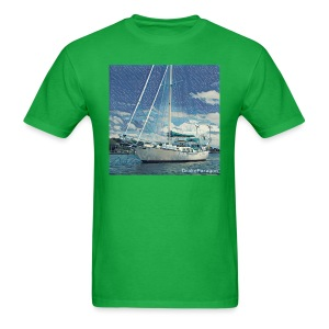 Men's T-Shirt - Anchored in Beaufort, NC - Men's T-Shirt