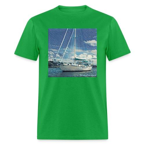 Men's T-Shirt - Anchored in Beaufort, NC - Men's T-Shirt