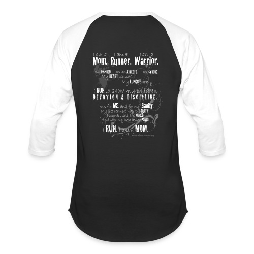 Women's Black and White Baseball Tee with Long Quote - Baseball T-Shirt