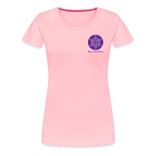 Boss Goddess Women's Round Logo Tee - Women's Premium T-Shirt