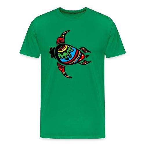 Abstract Sea Turtle  - Men's Premium T-Shirt
