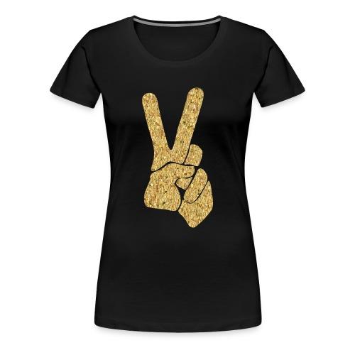 Gold Foil Peace Sign Womens Tee - Women's Premium T-Shirt