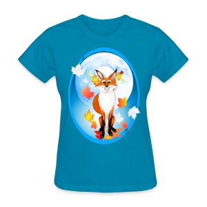 Fall Fox and Wolf Moon-2 - Women's T-Shirt