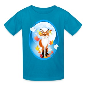 Fall Fox and Wolf Moon-2 - Kids' T-Shirt